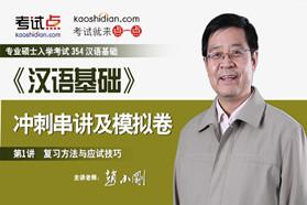 汉语国际教育硕士《354汉语基础》冲刺串讲及模拟三套卷精讲