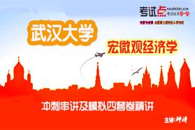 武汉大学《819宏微观经济学》冲刺串讲及模拟四套卷精讲
