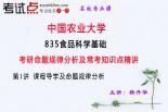 【考研专业课】中国农业大学《835食品科学基础》命题规律分析及常考知识点精讲