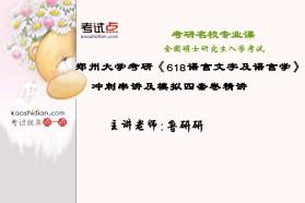 【考研专业课】郑州大学《618语言文字及语言学》冲刺串讲及模拟四套卷精讲