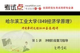 【考研专业课】哈尔滨工业大学《849经济学原理》冲刺串讲及模拟四套卷精讲
