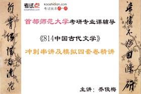 【考研专业课】首都师范大学《814中国古代文学》冲刺串讲及模拟四套卷精讲
