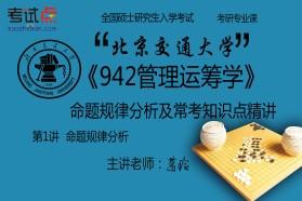 【考研专业课】北京交通大学《942管理运筹学》命题规律分析及常考知识点精讲