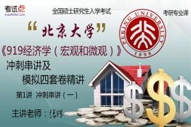 【考研专业课】北京大学《919经济学(宏观和微观)》冲刺串讲及模拟四套卷精讲