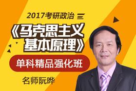 阮晔2017考研政治《马克思主义基本原理》单科精品强化班