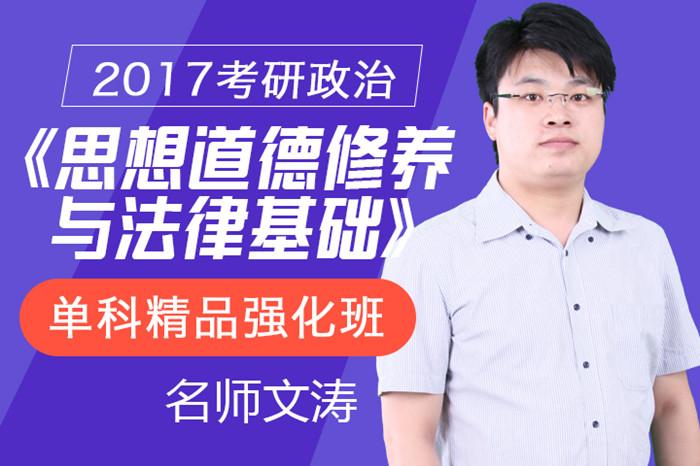 文涛2017考研政治《思想道德修养与法律基础》单科精品强化班