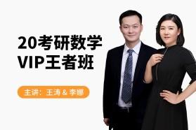 2020考研数学VIP王者班-9班