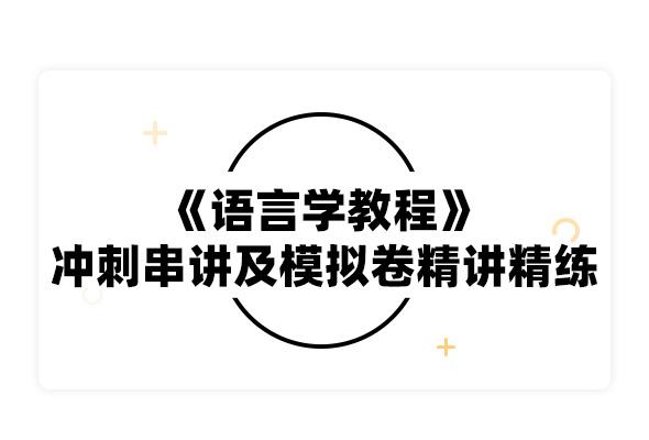 2019考研胡壮麟《语言学教程》冲刺串讲及模拟卷精讲精练