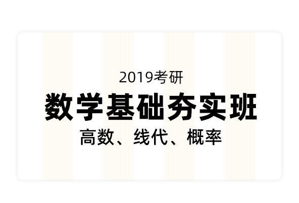 2019考研數學基礎夯實班(高數、線代、概率)